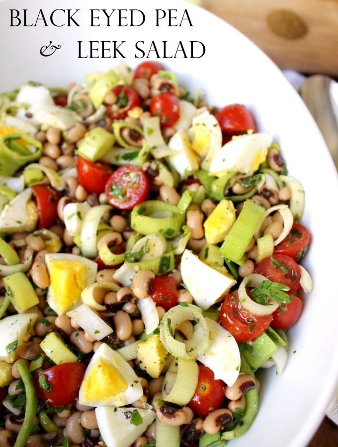 Black Eyed Pea and Leek Salad