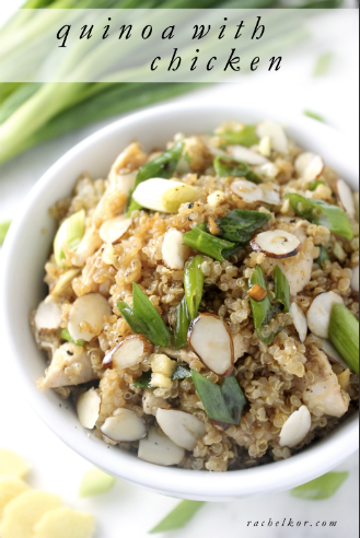 Sesame Garlic Quinoa with Chicken