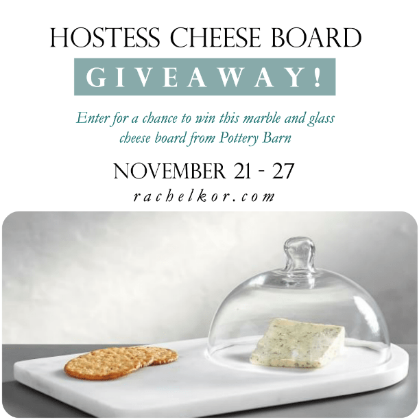 Hostess Cheese Board Giveaway!