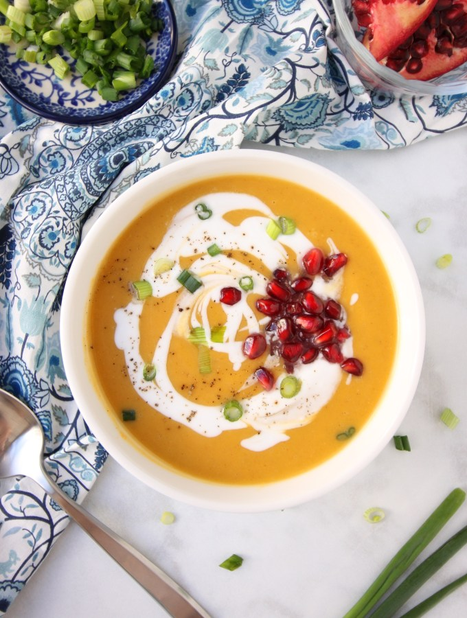 Creamy Butternut Squash Soup with Coconut Milk