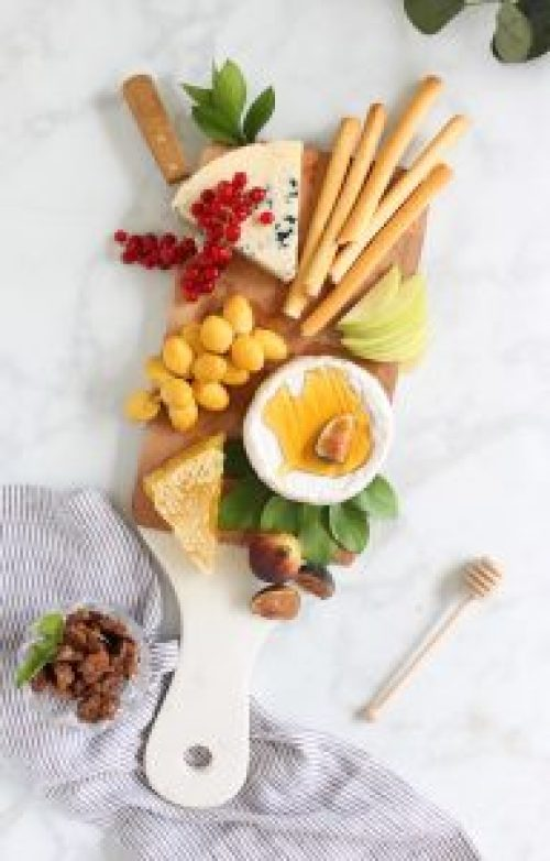 Apple and Honey Cheese Snack Board