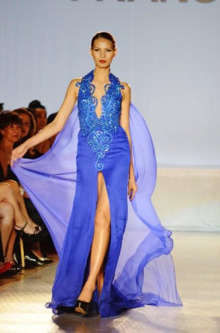 Supermodel Ria Bolivar in Francis Libiran gown