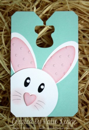 Stampin' Up! Easter Bunny Punch Art Tag Created by Katie Legge rachelleggestampinup.wordpress.com #Easter #Bunny #StampinUp #