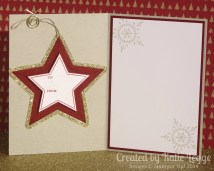 Katie Legge Stampin Up Many Merry Stars Ornament in a Card 5