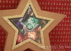 Stampin' Up! Many Merry Stars Kit Star Box With Brad Hinge Opening | Gold Glimmer, Many Merry Stars Stamp Set | Created by Rachel Legge rachelleggestampinup.wordpress.com