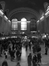 People stride through Grand Central Station