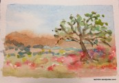 Meadow watercolor artist trading card