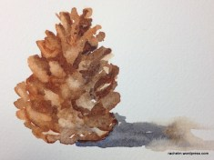 painting of pinecone