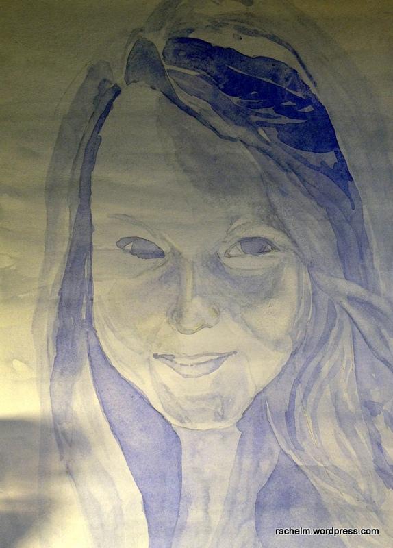 Portrait in progress on illustration board