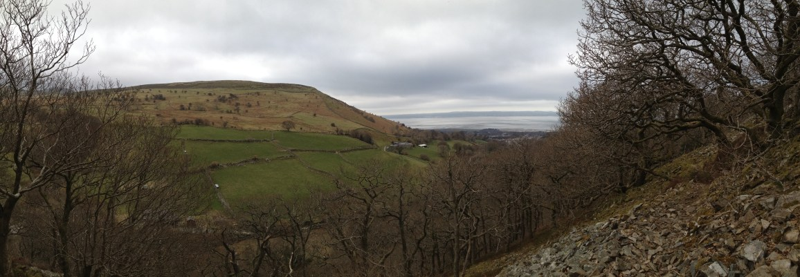 Nant y Coed panorama view