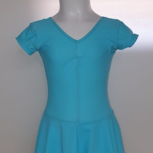 Blue Nylon Ballet Dress Front View