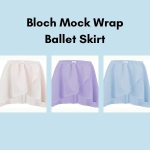 Three ballet skirts on a blue background