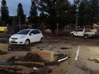 Debris in the car park