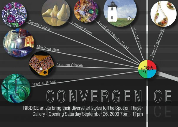 CONVERGEN|CE Artist Opening at The Spot on Thayer Sept 26, 7-11pm