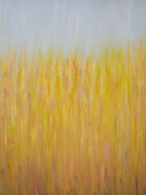 "©Rachel Brask, Rainy Moment 03 (Rain in Early Spring). Oil on canvas, 40""x30""."