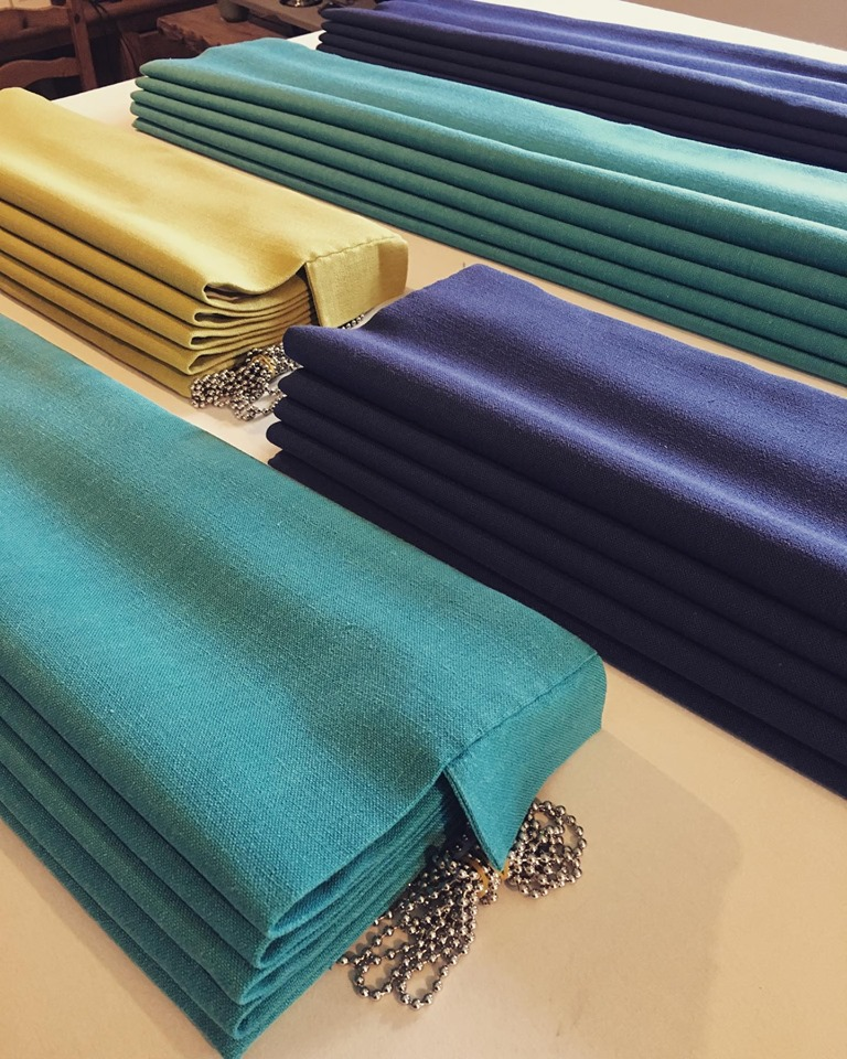 Roman Blinds in Bright Colours
