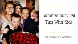 Summer Survival Tips With Kids