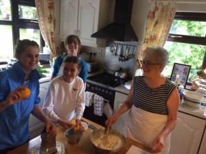 Baking experience in Marjorie's kitchen