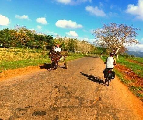 Main Cuban transport - horse and bike