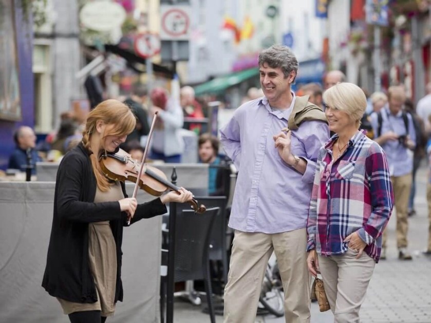 Galway street music Rachel's Irish Adventures private tours