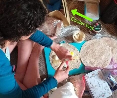 Rachel Nolan preparing her Snack Packs
