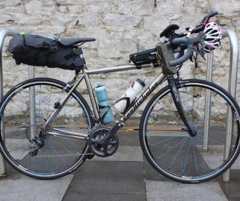 Rachel Nolans first female to win the transatlanticway bike set up incl spinergy wheels