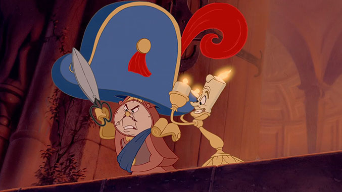 lumiere and cogsworth fight back