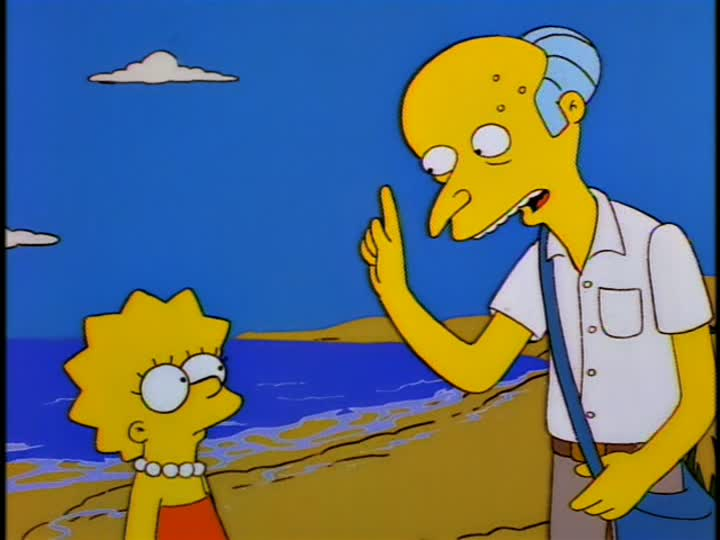 lisa and mr burns