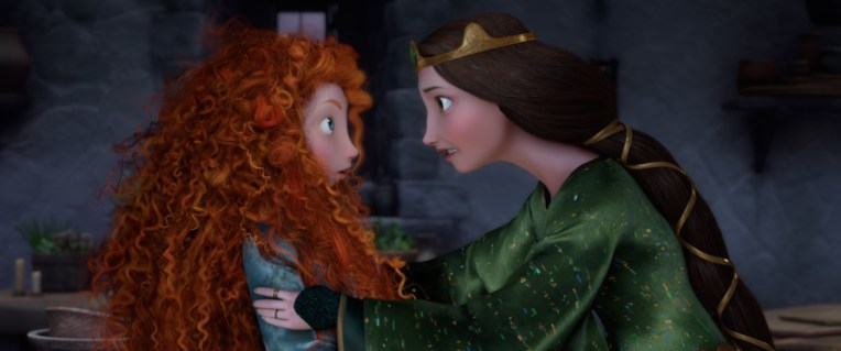 """BRAVE"" (L-R) MERIDA and QUEEN ELINOR. ©2012 Disney/Pixar. All Rights Reserved."