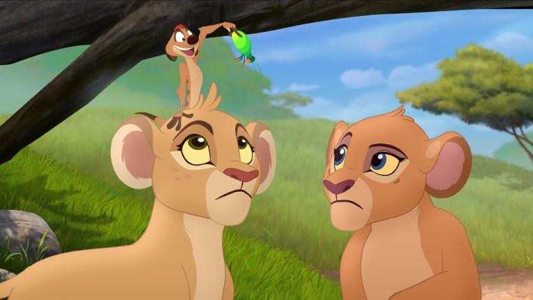 "THE LION GUARD - ""The Lion Guard: Return of the Roar"" - The epic storytelling of Disney's ""The Lion King"" continues with ""The Lion Guard: Return of the Roar,"" a primetime television movie event premiering SUNDAY, NOVEMBER 22 (7:00 p.m., ET/PT) on Disney Channel. (Disney Junior) TIMON, TIIFU, KIARA"