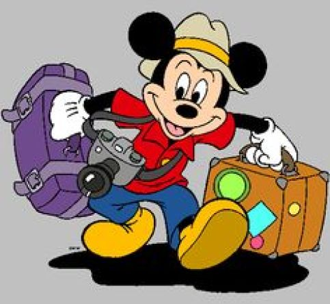 mickey traveling