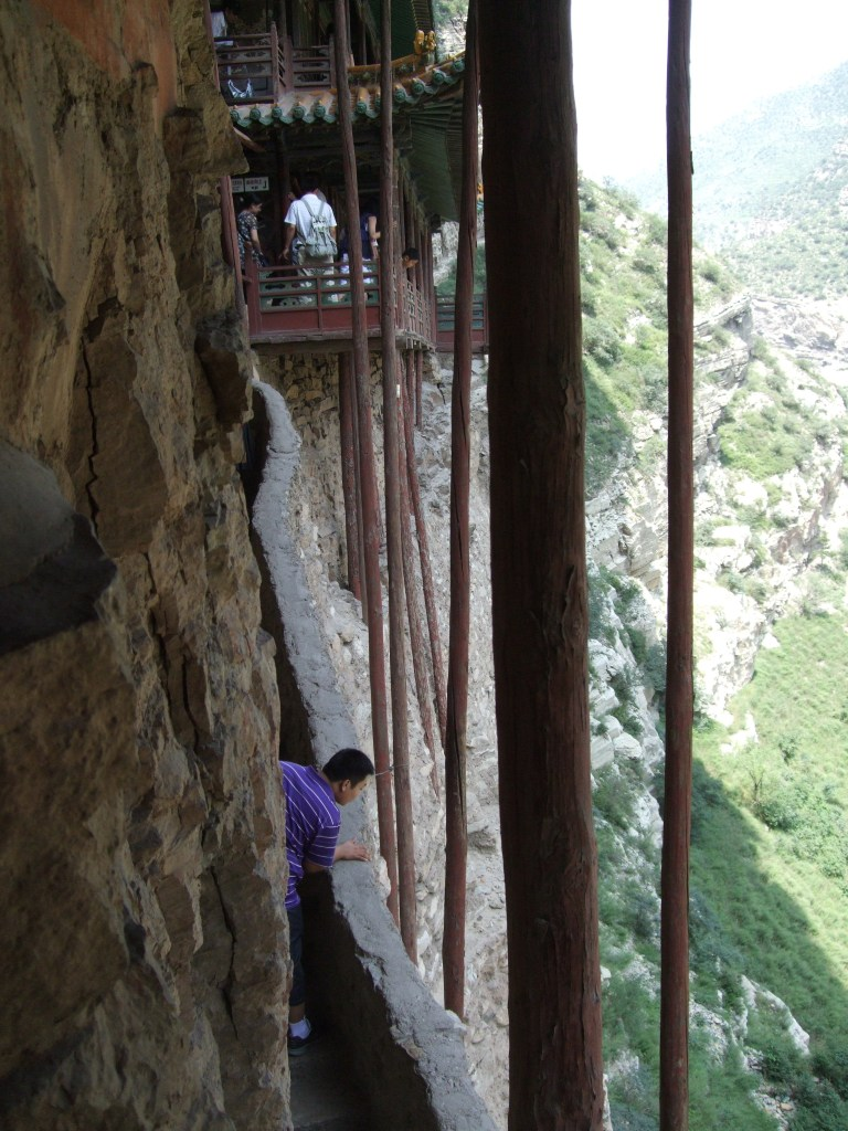 hanging monastery support beams