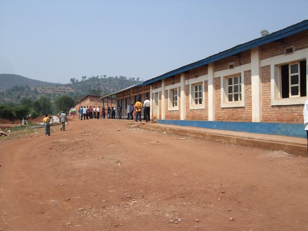 a Kirundo, Burundi classroom block