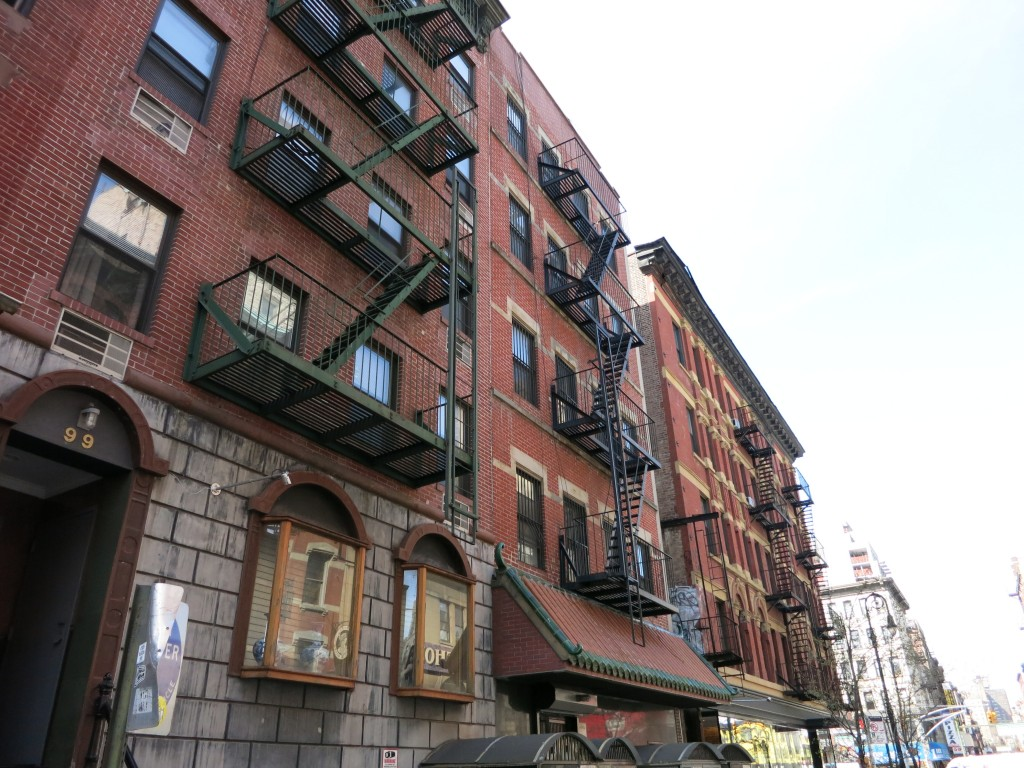 tenement buildings on the Lower East Side in New York City