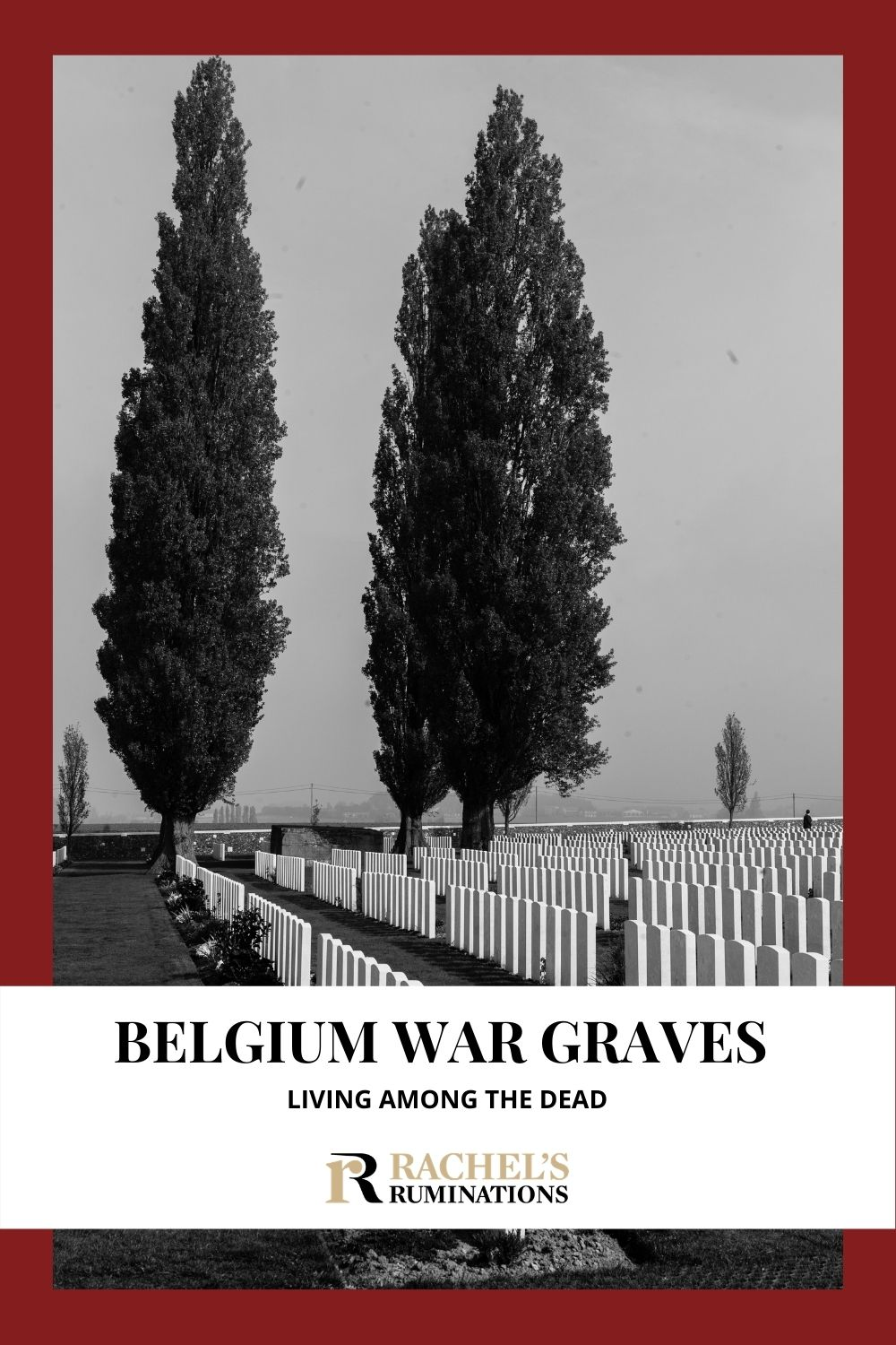With so many Belgium war graves, memorials, monuments, trenches and museums in the Ypres Salient, it's as if the locals live among the dead. via @rachelsruminations
