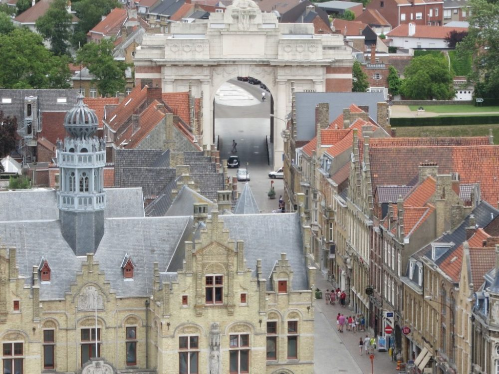 The Menin Gate is a memorial to all the Commonwealth soldiers buried in the Ypres Salient.