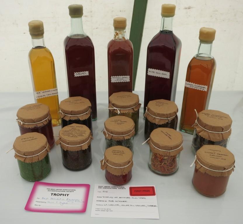 a prizewinning arrangement of preserves