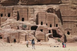 some smaller tombs at Petra