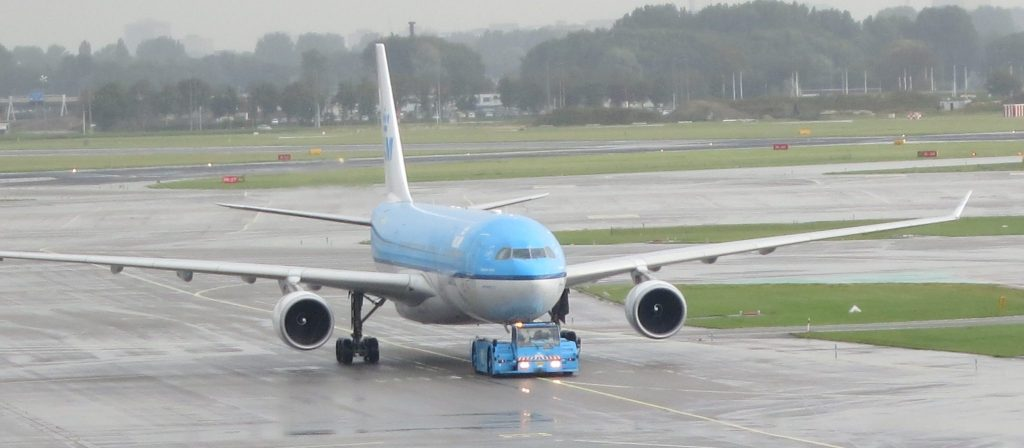 A KLM jet being pushed back from the gate on its way to the runway. Is flying dangerous?