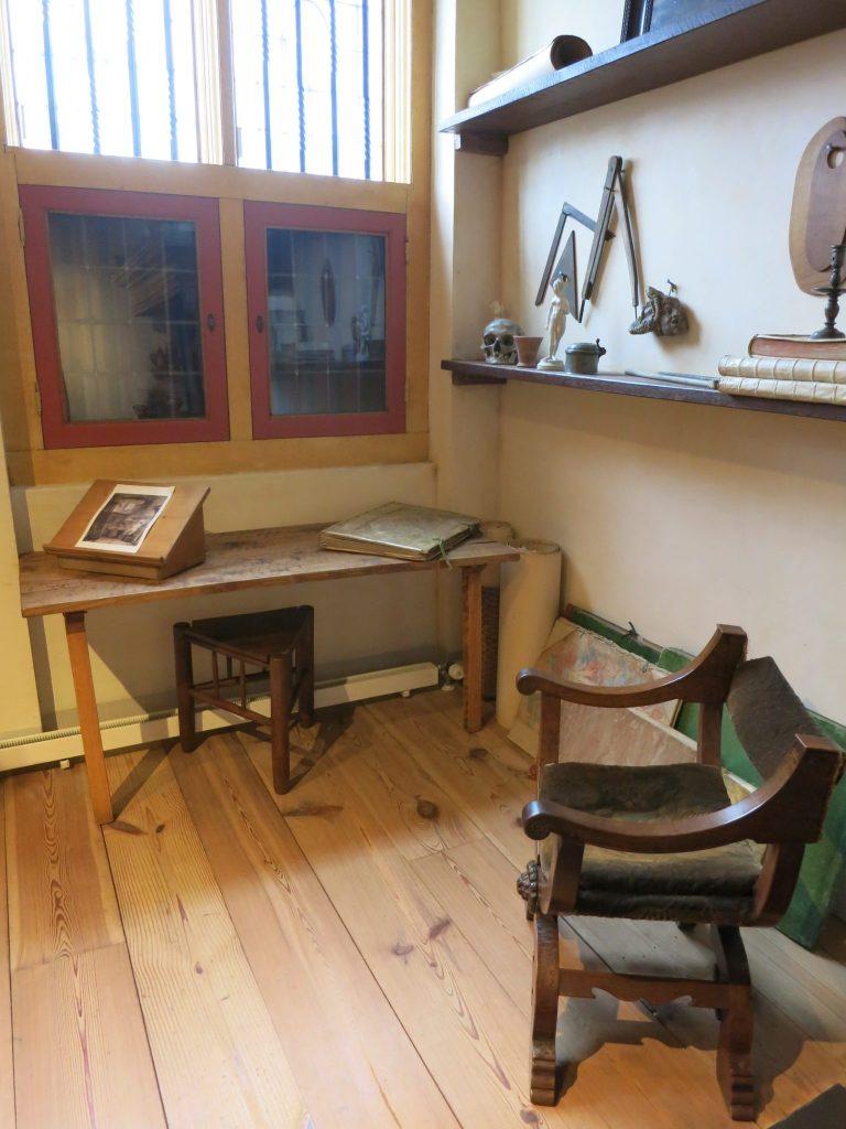a corner of Rembrandt's studio in Amsterdam
