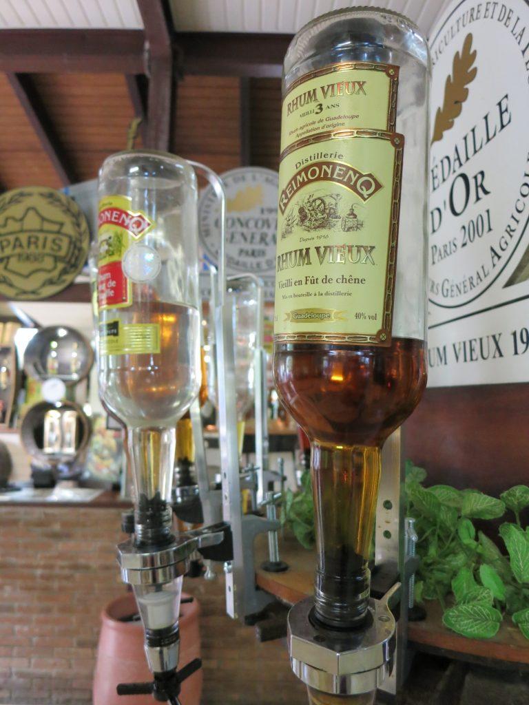 Rum bottles for tasting at the Rum Museum