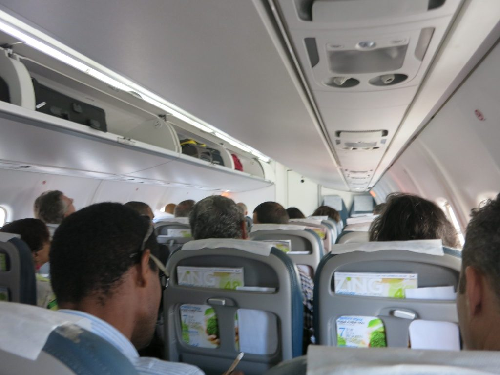 a view inside the plane
