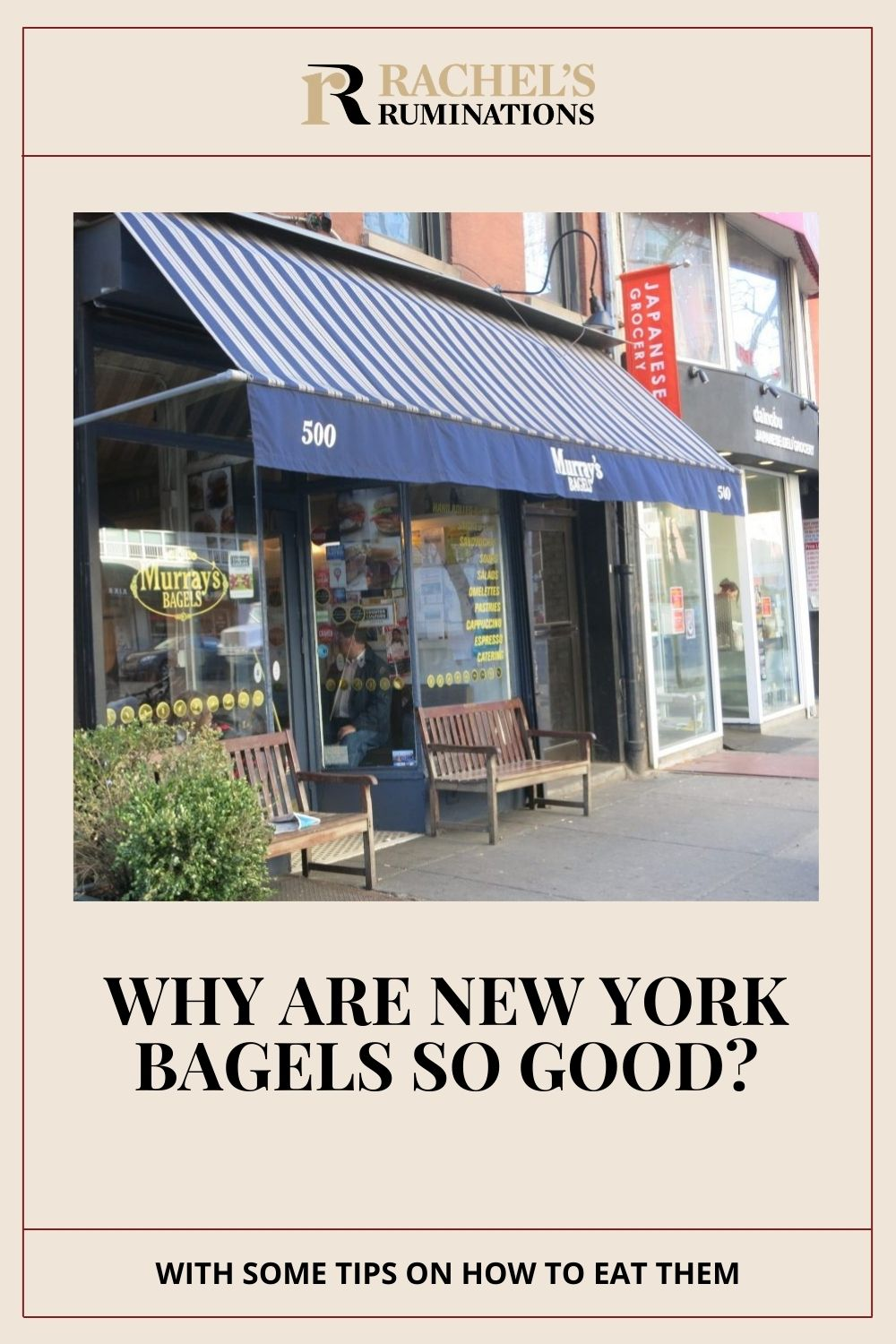 Going to New York City, I looked forward to a bagel more than anything. But why are NY bagels so good? With some tips about bagel-eating! via @rachelsruminations