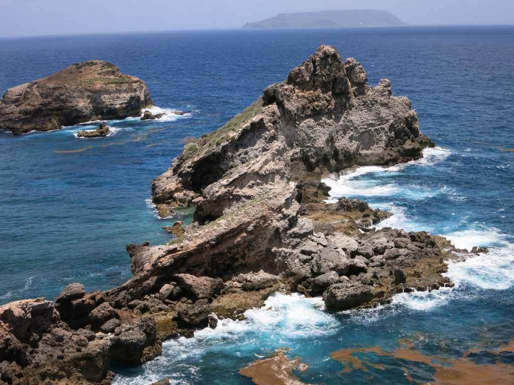 You pass Kreol West Indies guadeloupe art gallery on your way to this rocky outcrop