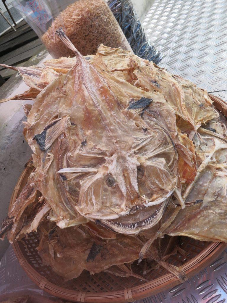 a dried fish on display in Tai O