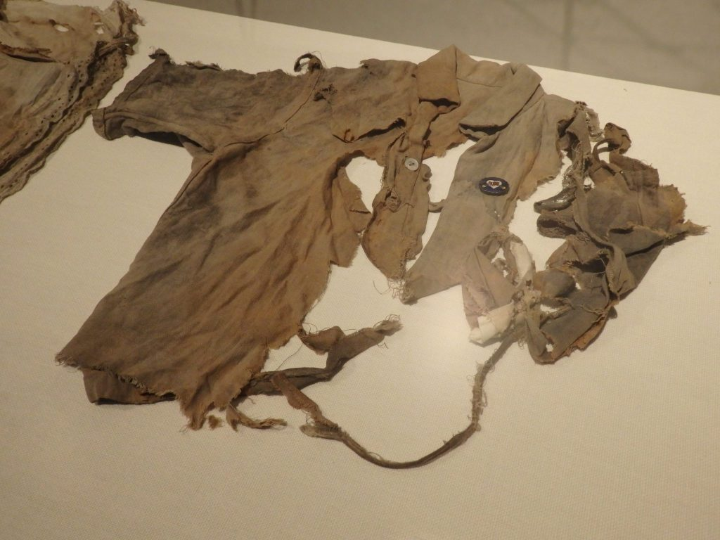shirt worn by one of the student victims of the Hiroshima bomb
