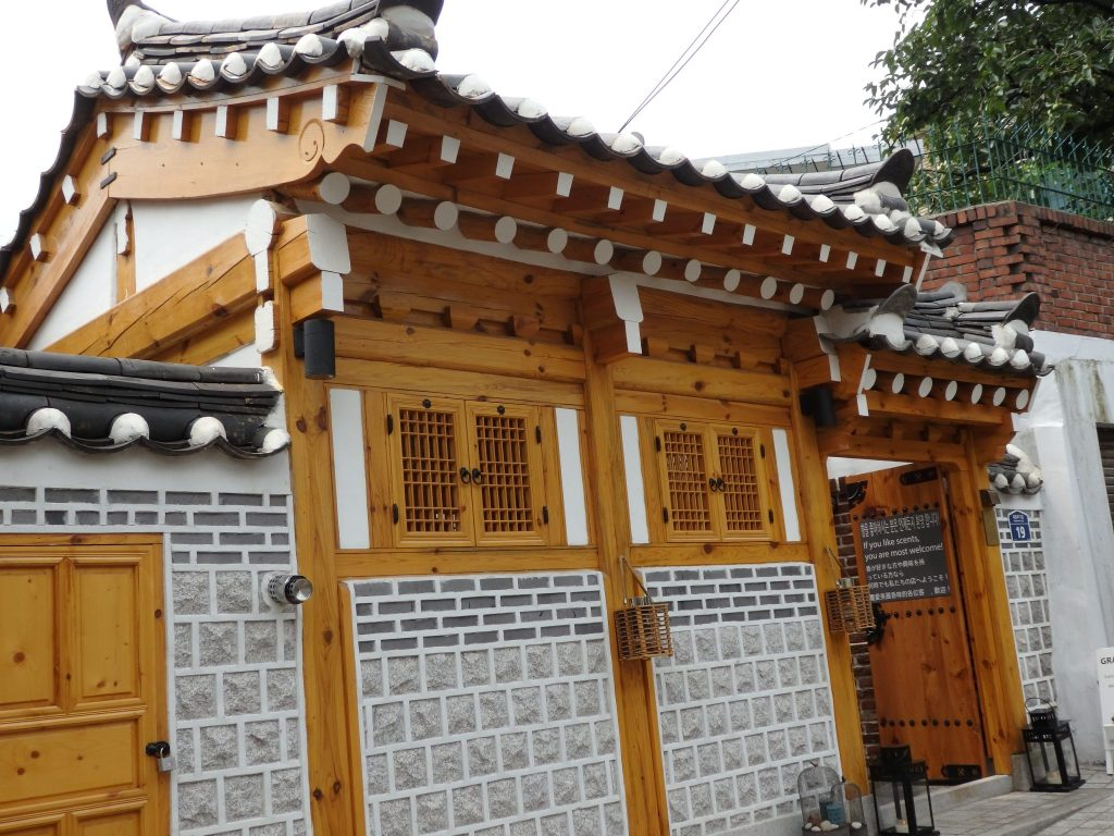 This hanok appears to be new, and houses a scent shop.