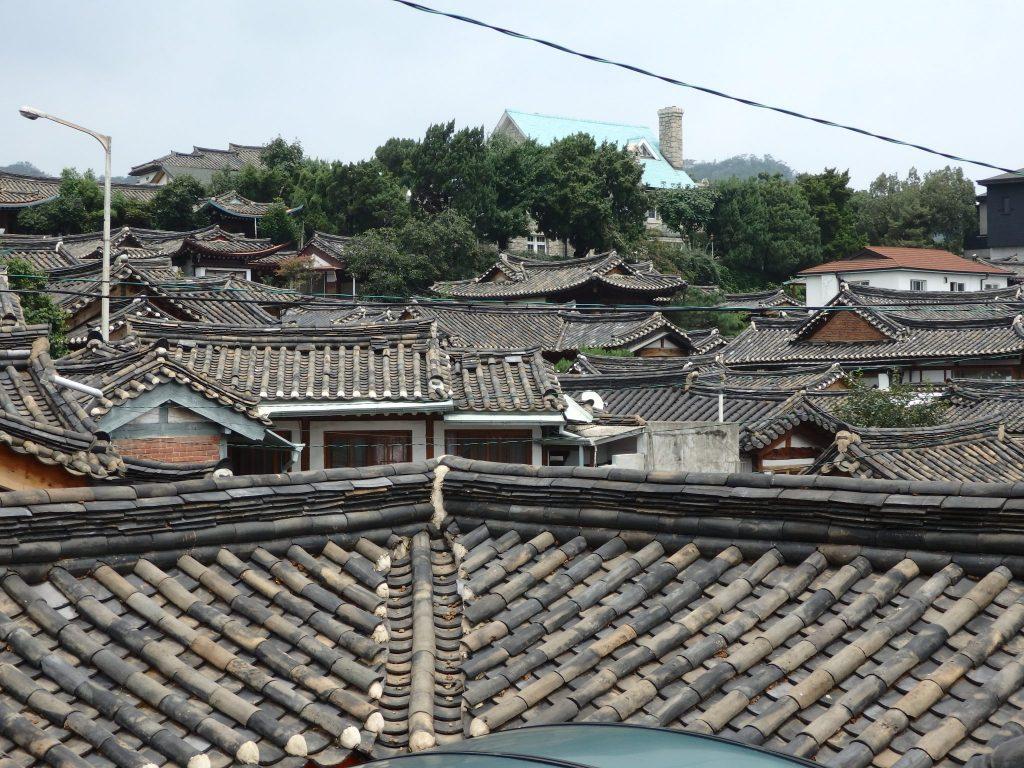 view over part of Buckchon Hanok Village