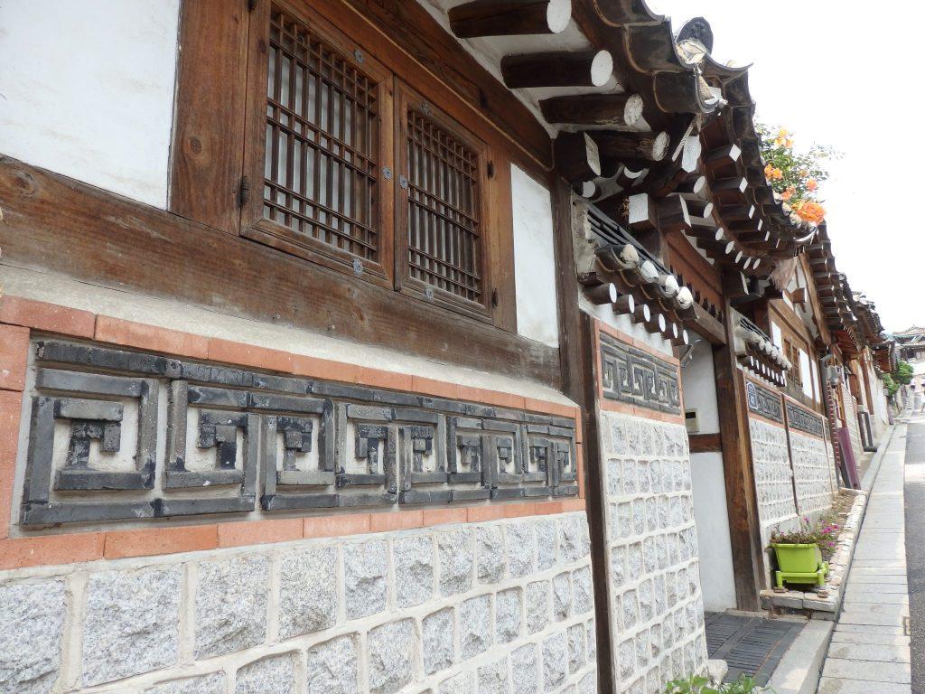 exterior of a hanok in Buckchon Hanok Village, Seoul