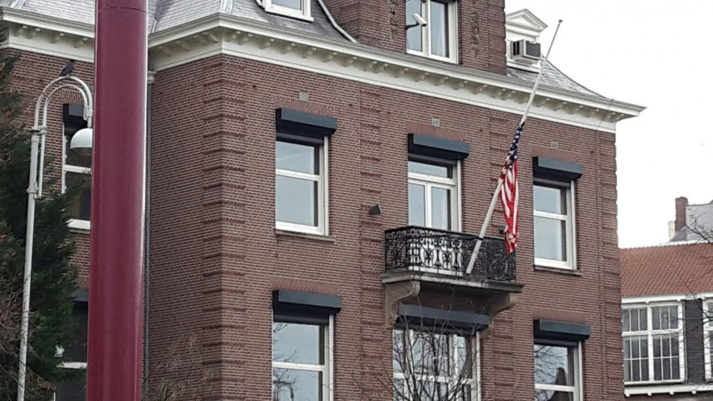The US consulate in Amsterdam is a brick building, quite elegant. A small balcony on the second floor holds an American flag at half-mast. This is where I renounced on my renunciation day.